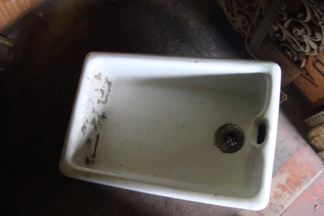 White Porcelain Basin
