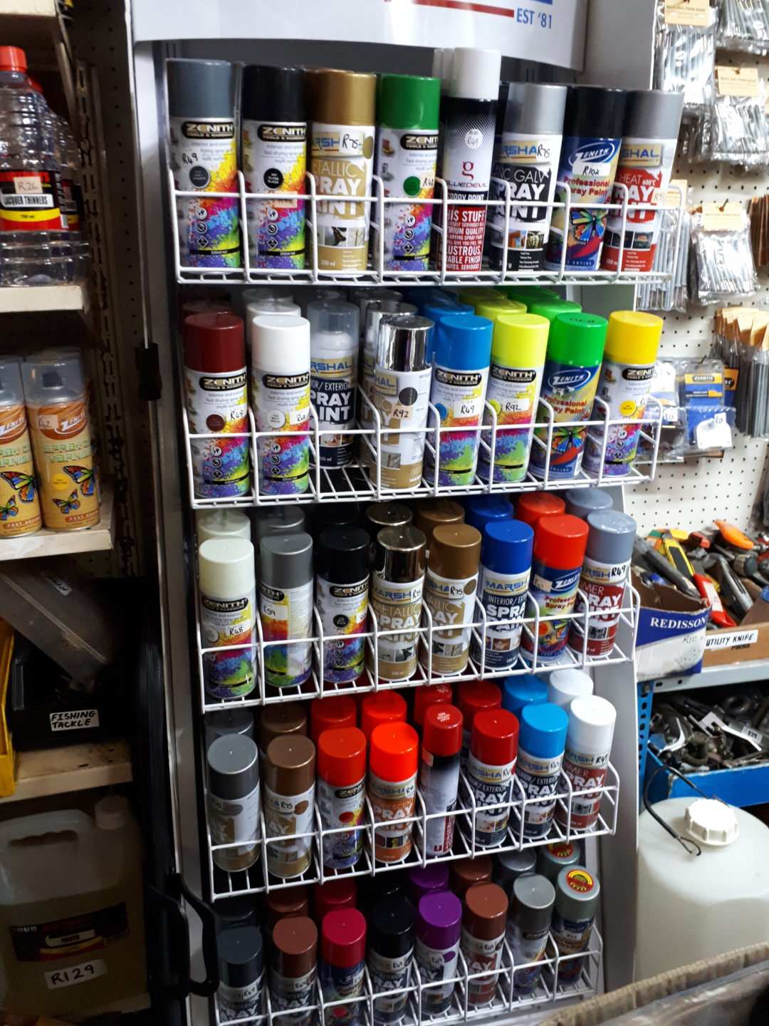Spray paint – different colors